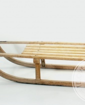 Slittino in legno vintage