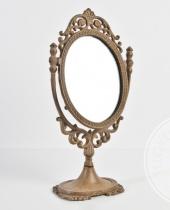 Specchiera ovale con piedistallo