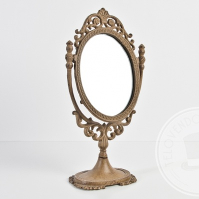 Specchiera ovale con piedistallo telovendoio - Specchio con piedistallo ...