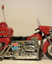 Modellino giocattolo moto della polizia