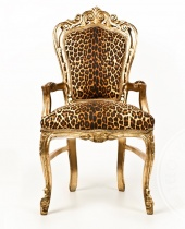 Poltrona in tessuto leopardato