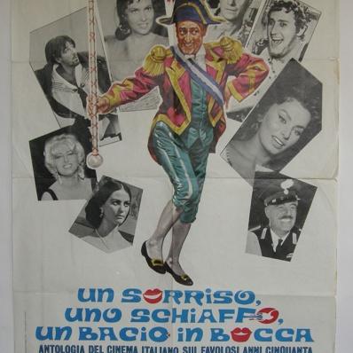 """Manifesto locandina cinematografica """"Un sorriso, uno schiaffo, un bacio in bocca """""""