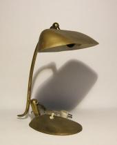 Lampada da scrittoio ottonata