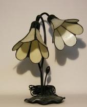 Abat-jour fiori bianchi stile Tiffany