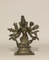 Statuina Shiva in lega di bronzo