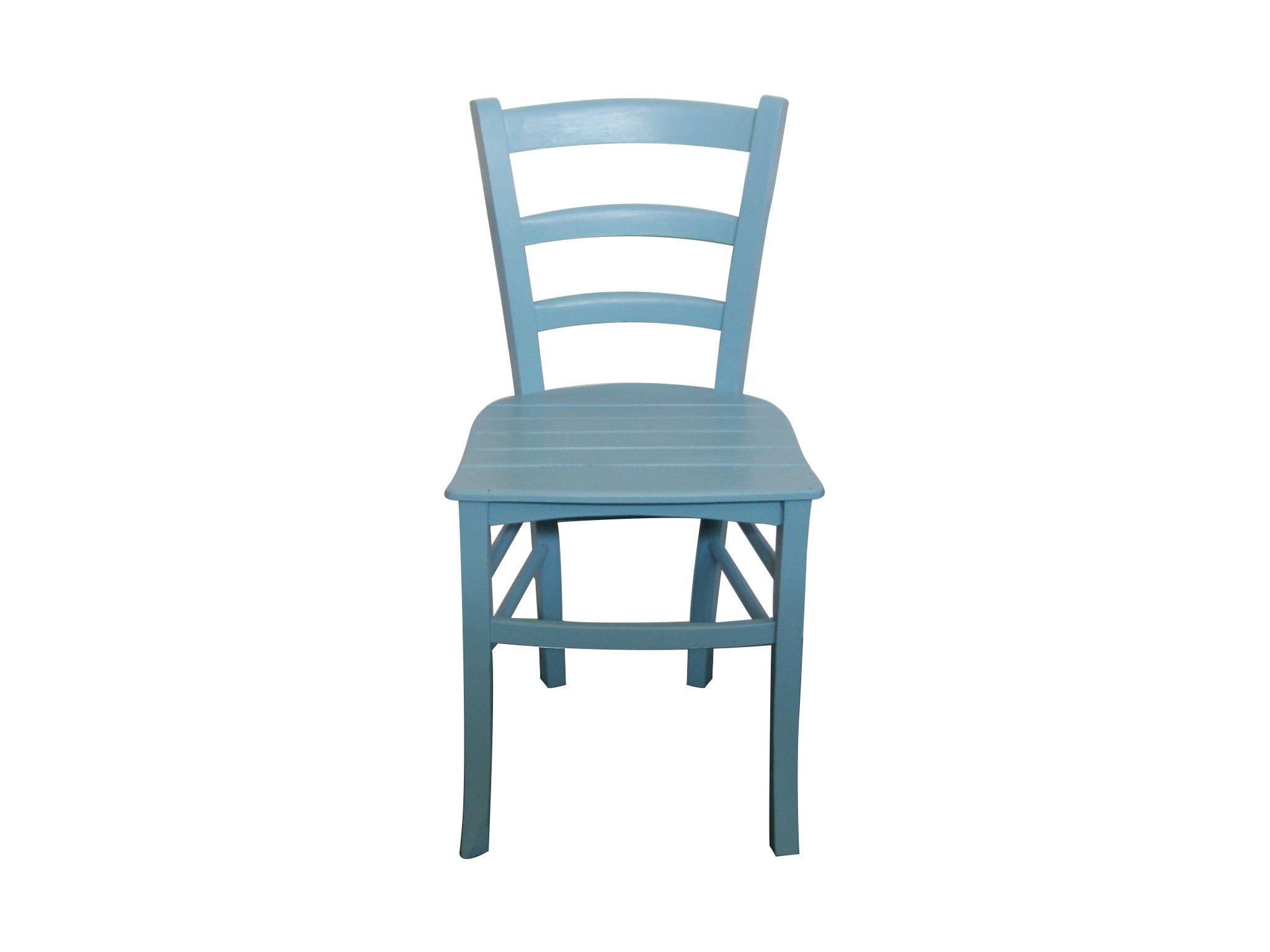 Sedia in legno azzurra decapè telovendoio