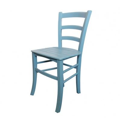Sedia in legno azzurra decap telovendoio for Sedie legno colorate