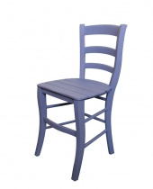 Sedia in legno lilla decapè