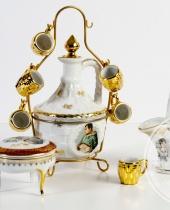 """Servizio da liquore """"Napoleone"""" in Porcelaine de luxe Corse"""