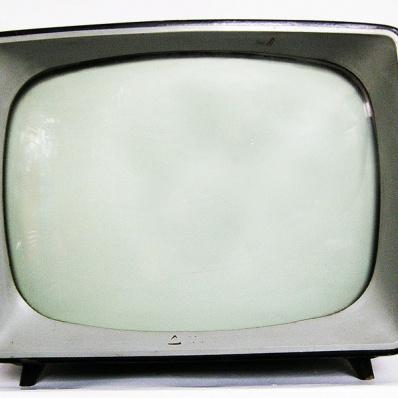 Televisore Simens in legno