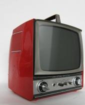 Televisore Minerva rosso