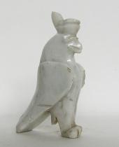 Horus divinità egizia in marmo bianco