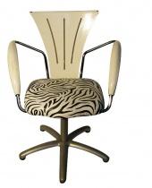 Seduta in ecopelle zebrata