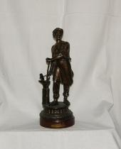 Statuina in lega di bronzo 'Le forgeron'