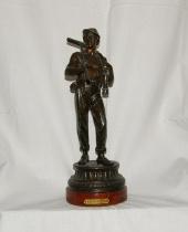 Statuina in lega di bronzo 'Le mineur'