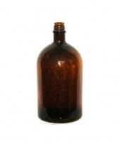 Antica bottiglia da Apoteca in vetro ambrato