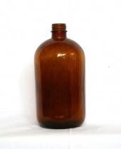 Antica bottiglietta da Apoteca in vetro ambrato