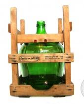 Damigiana FASER-PLAST con supporto in legno e rubinetto