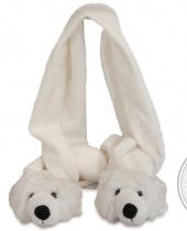 Sciarpa in Peluche Orso Bianco