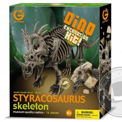 Styracosaurus Scheletro - Kit di scavo