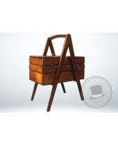 Cestino porta cucito in legno