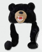 Cappello in Peluche Orso Bruno