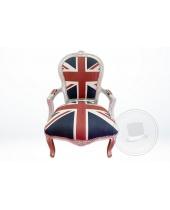 Poltrona con bandiera inglese