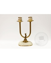 Candelabro due fiamme in stile Liberty