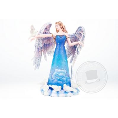 Fata Zephon Guardian Angel con colombe Sheila Wolk