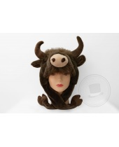 Cappello in Peluche Bisonte