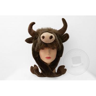 Cappello in Peluche Bisonte