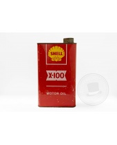 Fustino in latta Shell X-100 Motor Oil