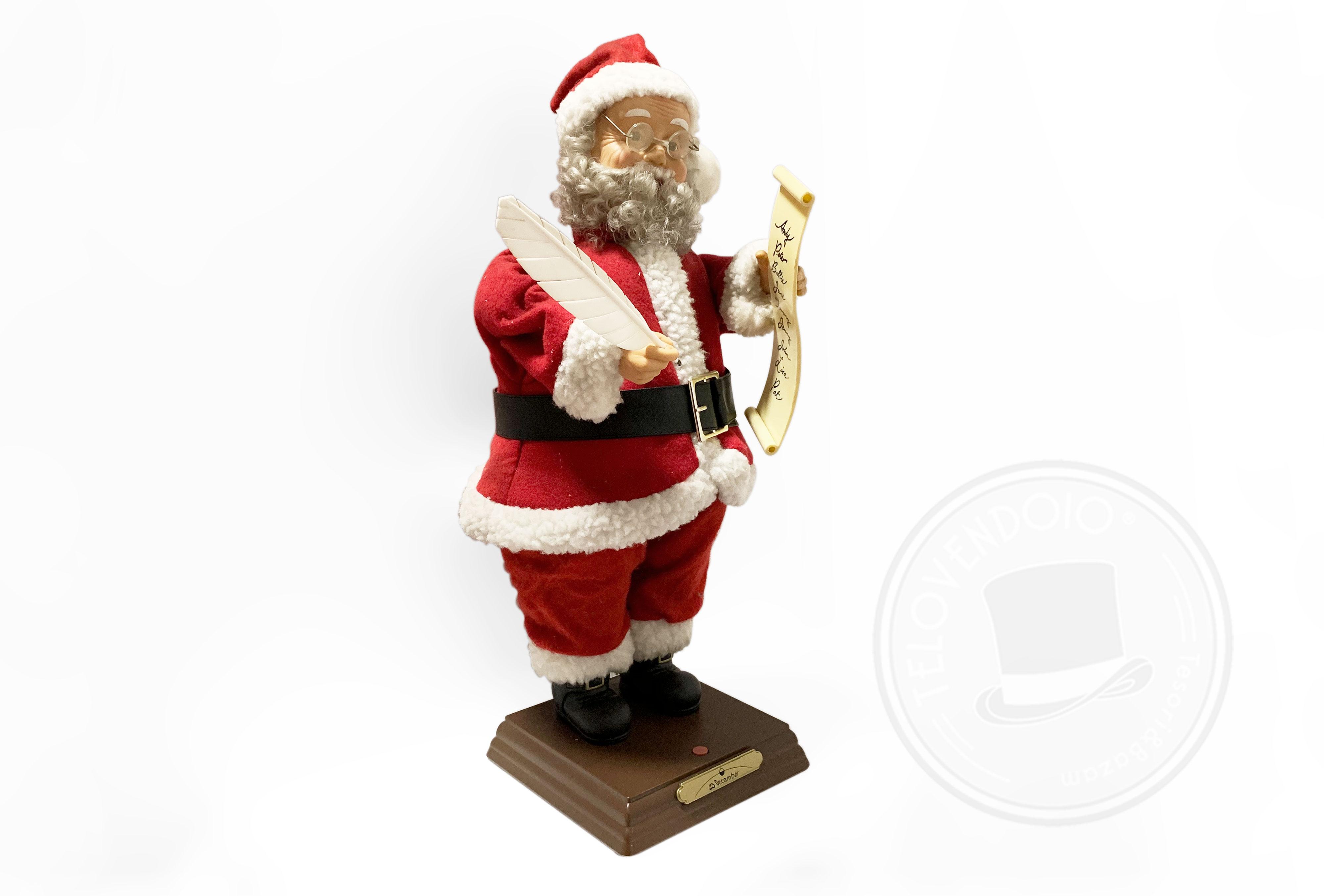 Babbo Natale 60 Cm.Babbo Natale Con Pergamena 60 Cm Telovendoio