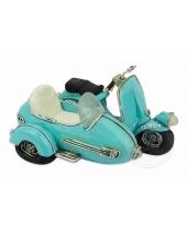 Salvadanaio Vespa con Sidecar azzurra