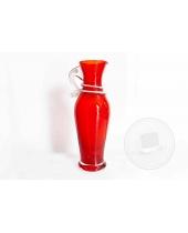 Piccolo Vaso in vetro rosso lavorato