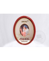 Specchio pubblicitario Coca Cola ovale