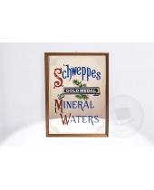 Specchio pubblicitario Schweppes Gold Medal Mineral Waters