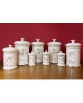 Set Barattoli Ceramica Coronetti Cunardo