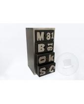 Cassettiera moderna con lettere 4 cassetti
