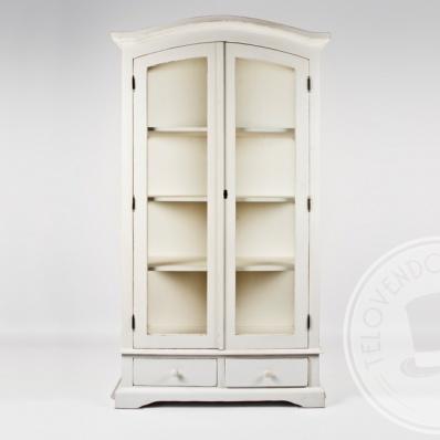 Cristalliera in legno bianco