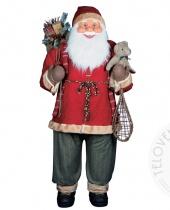 Babbo Natale gigante in stoffa